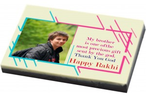 Personalised Rakhi Gift for Brother/Sister - Print on Chocolate Bar