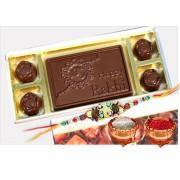 Happy Rakhi Chocolate Bar with Assorted Chocolates and Rakhi