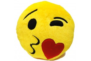 Premium Quality Flying Kiss Soft Smiley Cushion