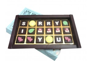Sorry Gift for Girlfriend,Boyfriend,Husband,Wife - Sorry I Love You Chocolate Message