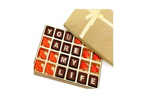 Chocolate Gift For Him/Her - You Are My Life Chocolate Box